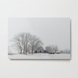 a Midwest winter photograph Metal Print