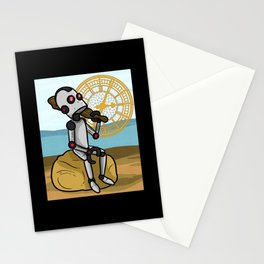 Robot Time Traveler Past Stationery Cards