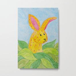 The Curious and Unusual Bunny Metal Print