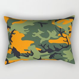 Camouflage Orange Rectangular Pillow