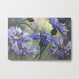 Cornflower Blue Metal Print