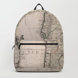 Vintage Map Print - de l'Isle - Southern South America (1730) Backpack