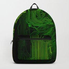 Green glowing circuit - by Brian Vegas Backpack