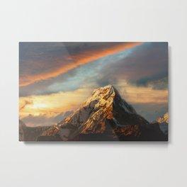 White Mountain Landscape Metal Print