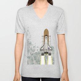 Space Shuttle NASA Launch Unisex V-Neck