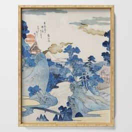 Utagawa Kuniyoshi's Asazawa Stream Remix Serving Tray