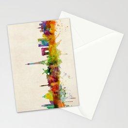 Paris Skyline Watercolor Stationery Cards
