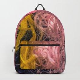 Rainbow female hair Backpack