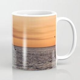 Orange Summersunset Feeling - Warnemuende - Baltic Sea Coffee Mug