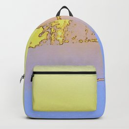Grove of trees in periwinkle and lemon Backpack