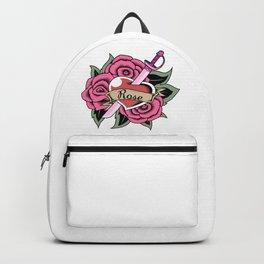 Rose Quartz Tattoo Version 3 Backpack