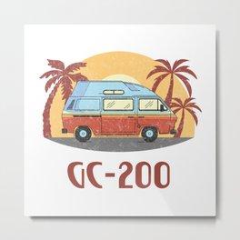 GC-200  TShirt Vintage Caravan Shirt Travel Road Gift Idea Metal Print