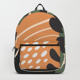Abstract tropical element Backpack