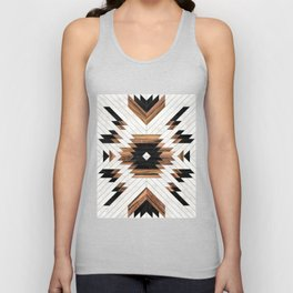 Urban Tribal Pattern No.5 - Aztec - Concrete and Wood Unisex Tanktop