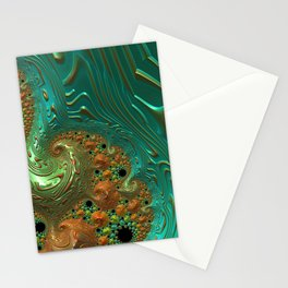 Cool Creamsicle - Fractal Art Stationery Cards