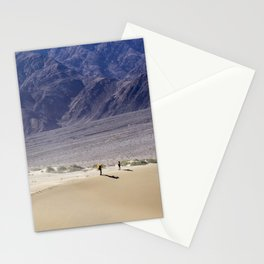 Couple Walking in Sand Dunes - Death Valley Stationery Cards