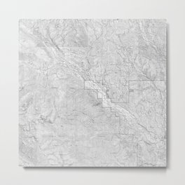 Methow Valley Topography - SeriousFunStudio Metal Print