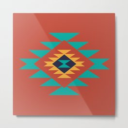Southwest Indian Tribal Abstract Pattern Metal Print