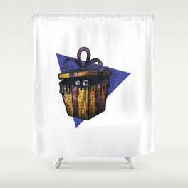 A Christmas Mystery Gift Shower Curtain