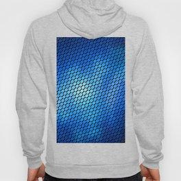Blue LED Abstract Art Design Hoody