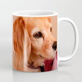 cute cocker spaniel  golden side view Coffee Mug