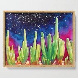 Cosmic Cactus - saguaro Serving Tray