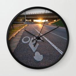 Richmond Bike Guy Wall Clock