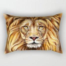 Artistic Lion Face Rectangular Pillow