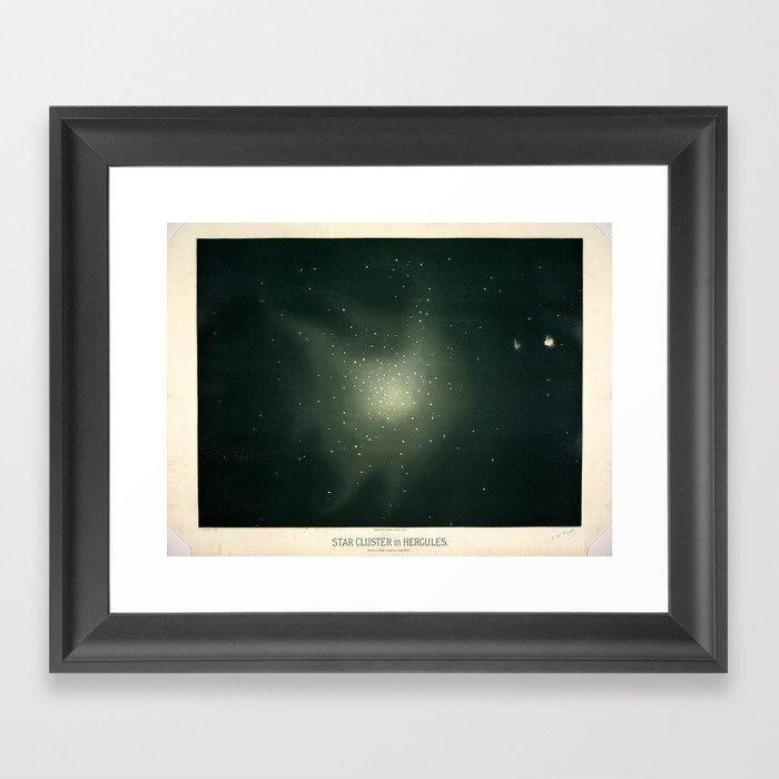 Star clusters in Hercules by Étienne Léopold Trouvelot (1877) Gerahmter Kunstdruck
