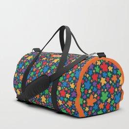 Funky Meeple Pattern Duffle Bag