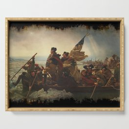Washington Crossing the Delaware Serving Tray