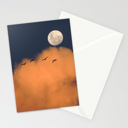 Moon cloud sky 7 Stationery Cards
