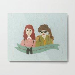 Suzy and Sam Together Metal Print
