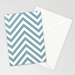 Chevron Royal Blue Navy Blue White Indigo Modern Minimal Art Interior Stationery Cards