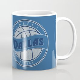 Dallas MFFL basketball royal blue vintage logo Coffee Mug