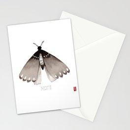 Ink Wash Moth Stationery Cards