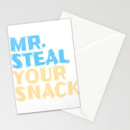 Funny Mr Steal your Snack Design for Foodlovers Eat in your style!  Stationery Cards