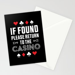 Return to the Casino Funny Gambling Gift Stationery Cards
