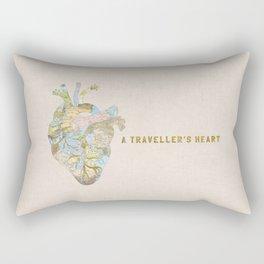 A Traveller's Heart (UK) Rectangular Pillow