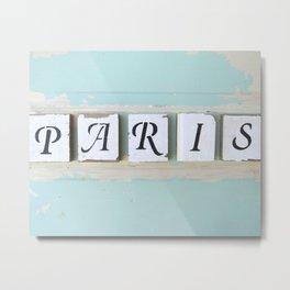 Shabby Paris Metal Print