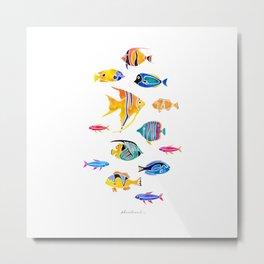 Aquatic Series 1: Fishes Metal Print