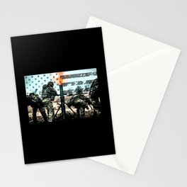 Mortar Fire Stationery Cards