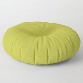 Minimalist colorful yellowish green color decor.  Floor Pillow