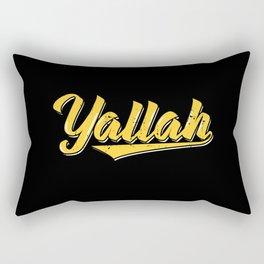 Yallah | Arabic Artwork Habibo Gifts Rectangular Pillow