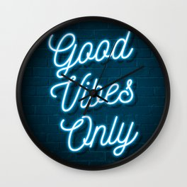 Good Vibes Only - Neon Wall Clock