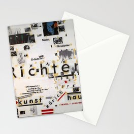 retro plakat exposition hans richter theoricien Stationery Cards