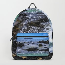 Emerald Tropical Scenic Surf Waves With Turquoise Sky Backpack