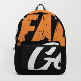 Get faded - Hairdresser saying design Backpack