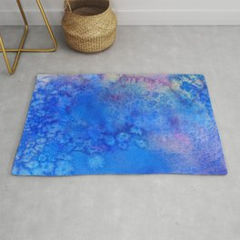 Forget-Me-Not Watercolor Texture Rug