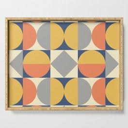 Mid Century Modern Geometric Pattern 824 Serving Tray